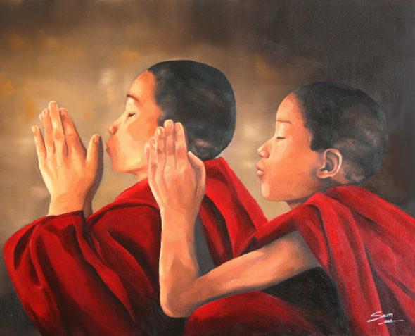 Young monks Praying_small